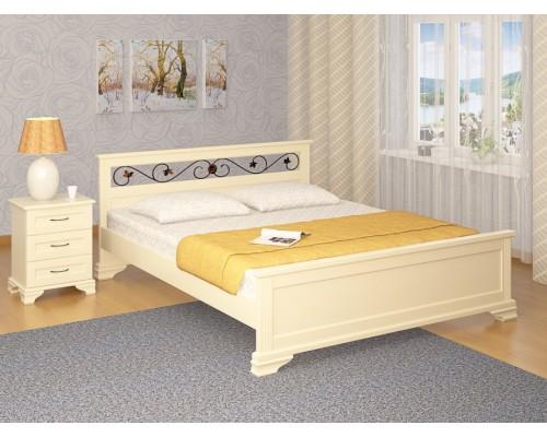 Кровать Лира Ковка из массива дуб