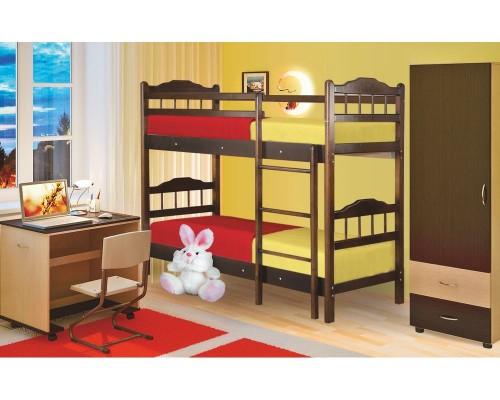 Детская двухъярусная кровать из массива 2