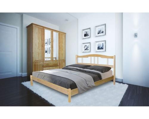 Кровать Лидер-2 из массива березы