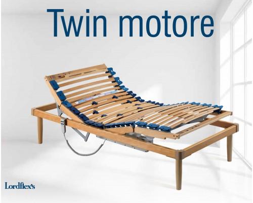 Деревянное ортопедическое основание с электроприводом Твин Моторе