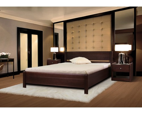 Кровать Руно-3 из массива бука