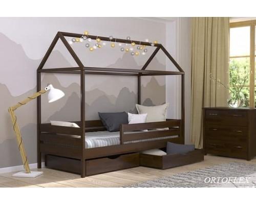 Кровать Домик-1 из массива сосны