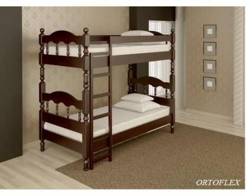 Кровать Точенка плюс из массива сосны