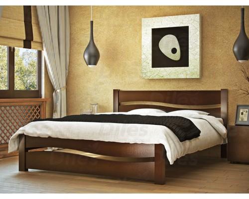 Кровать Волна из массива березы