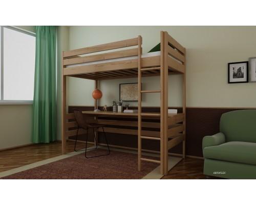 Кровать Чердак из массива сосны