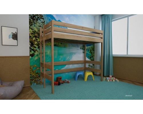 Кровать Чердак - 2 из массива сосны