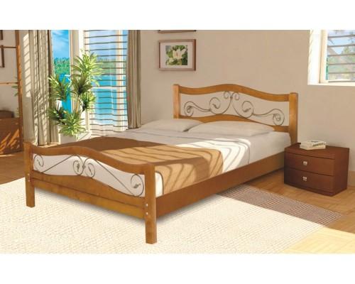 Кровать Ковка-3 из массива березы