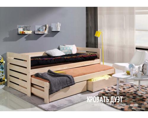 Кровать Дуэт из массива сосны
