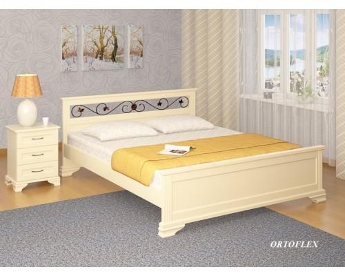 Кровать Лира-В Ковка из массива сосны