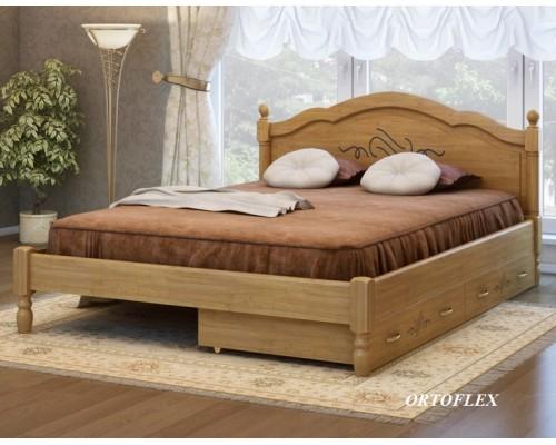 Кровать Лама из массива сосны