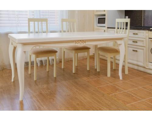 Обеденный раздвижной стол из массива ясеня